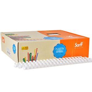 Ankara Ostim Durusoy Kırtasiye Sarff Spiral Plastik 12 mm Beyaz