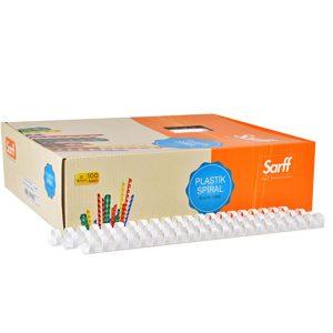 Ankara Ostim Durusoy Kırtasiye Sarff Spiral Plastik 14 mm Beyaz