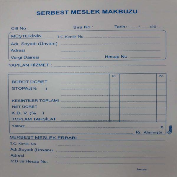 Ankara Ostim Durusoy Kırtasiye Serbest Meslek Makbuzu 3 Nüsha