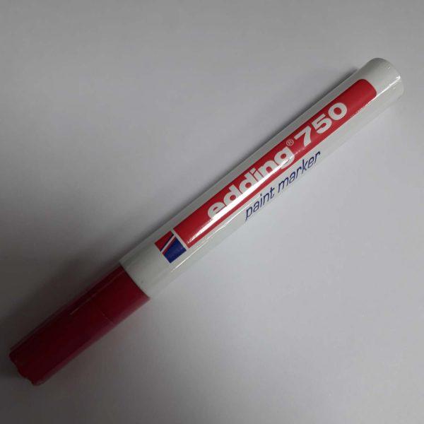 Ostim Durusoy Kırtasiye Edding Markör Boya 2-4 MM Yuvarlak Uçlu Kırmızı 750